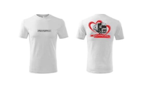Dětské triko Classic New 135 - srdce s kamionem - bílé - 2016