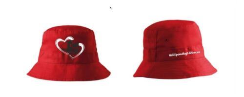 Klobouček dětský - logo srdce s kamionem - červený -3014