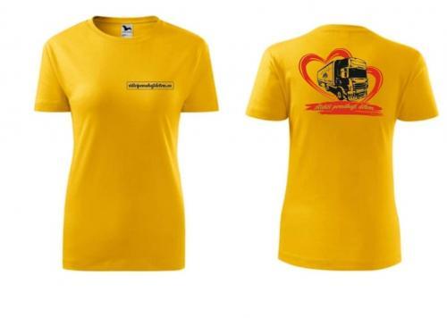 Triko unisex žluté s logem - 2002